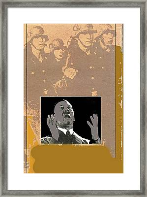 Hitler Giving Impassioned Speech Circa 1934 Color Added 2016 Framed Print by David Lee Guss