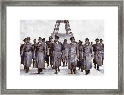 Hitler In Paris Framed Print by Esoterica Art Agency