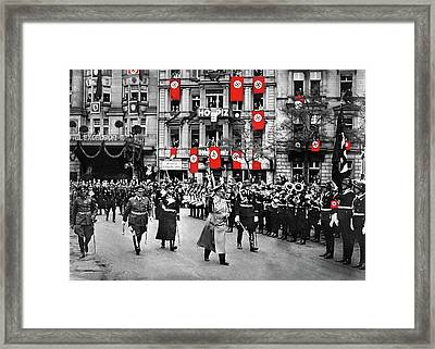 Hitler With Goering And Himmler Marching In Munich Germany C.1934-2016  Framed Print