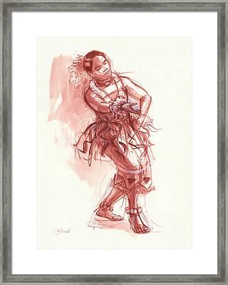 Hiva, Dancer Of Tonga Framed Print