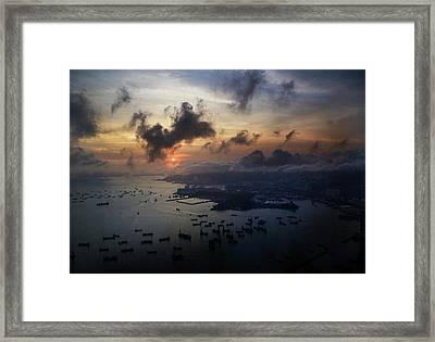 Framed Print featuring the photograph HK by Lucian Capellaro