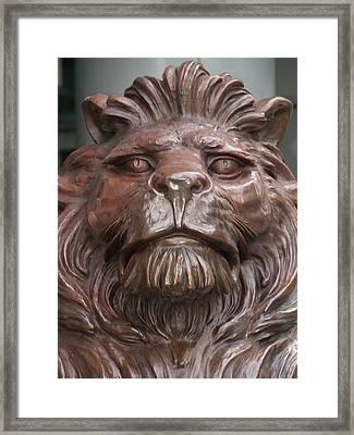 Hksb Lion Framed Print