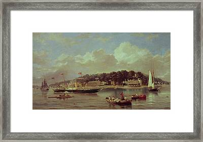 Hm Yacht Victoria Framed Print by George Gregory
