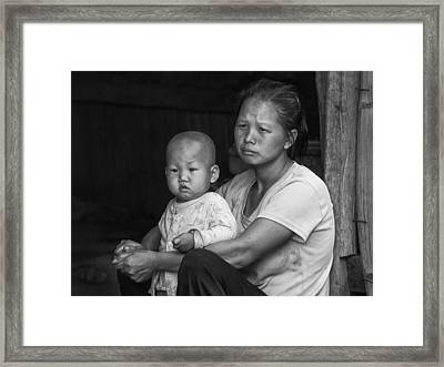 Framed Print featuring the photograph H'mong Mother And Child by Wade Aiken