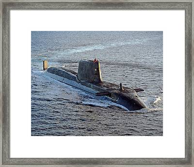 Hms Ambush Framed Print by Roy Pedersen