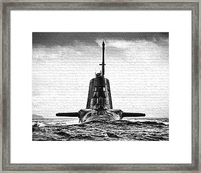 Hms Ambush Submarine Gaffiti Framed Print by Roy Pedersen