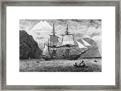 Hms Beagle Framed Print by R. T. Pritchett