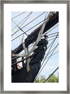 Hms Bounty Ship Figurehead Framed Print