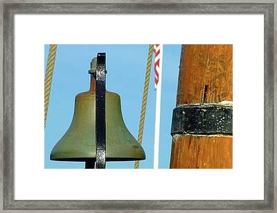 Hms Bounty Ships Bell Framed Print