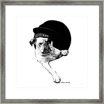 Hms Bulldog Framed Print by Edward Fielding