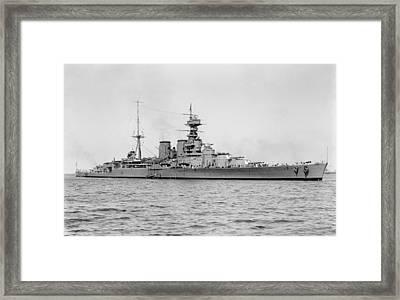 Hms Hood Battlecruiser Framed Print by War Is Hell Store