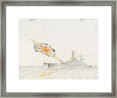 Hms Royal Oak Framed Print