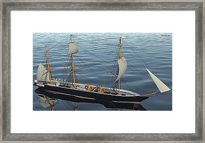 Hms Warrior 1860 - Bow To Stern Ocean Framed Print by Christopher Snook