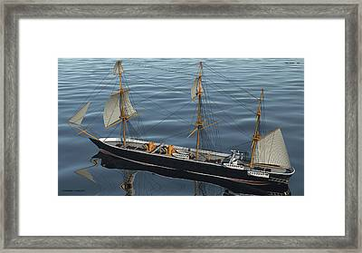 Hms Warrior 1860 - Stern To Bow Ocean Framed Print by Christopher Snook