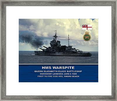 Hms Warspite Framed Print