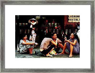 Ho Chi Minh. The Luncheon On The Asphalt Framed Print by Alex Volgin
