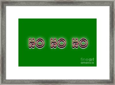 Ho Ho Ho Christmas Tee Framed Print by Edward Fielding