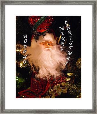 Ho Ho Ho Framed Print by Kim