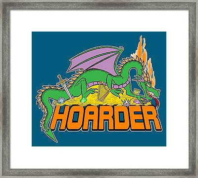 Framed Print featuring the digital art Hoarder by J L Meadows