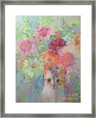 Hobbes Framed Print by Kimberly Santini