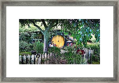 Framed Print featuring the photograph Hobbit Bungalow by Kathy Kelly