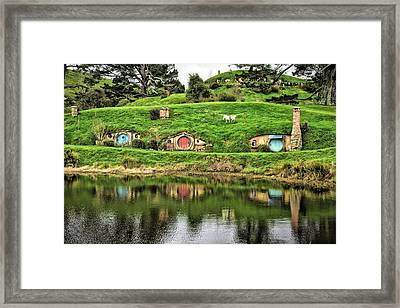 Hobbit By The Lake Framed Print