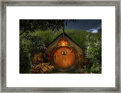 Hobbit Dwelling Framed Print