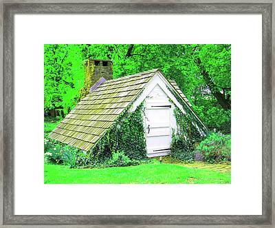 Framed Print featuring the photograph Hobbit Hut by Susan Carella
