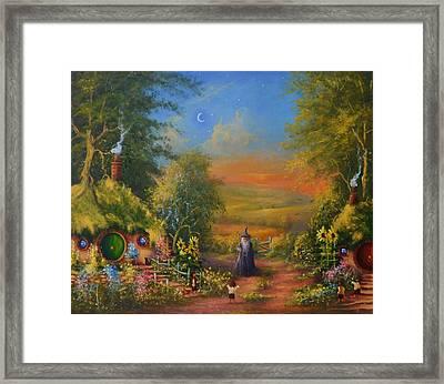 Hobbiton, Disturbing The Peace  Framed Print by Joe  Gilronan