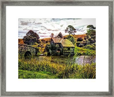 Hobbiton Mill And Bridge Framed Print