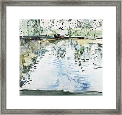 Hobby House And Ripples Framed Print by Calum McClure