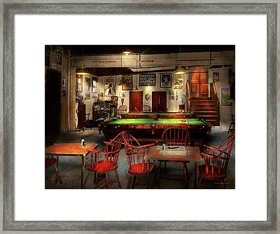 Hobby - Pool - The Billiards Club 1915 Framed Print by Mike Savad