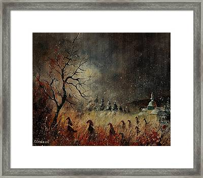 Hobglobins At Night Framed Print by Pol Ledent
