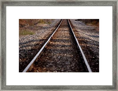 Hobo Highway Framed Print by RonSher Brooks