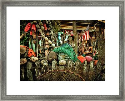 Hobo Junction Buoys Framed Print by Thom Zehrfeld
