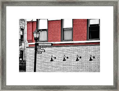 Hoboken Lights Framed Print