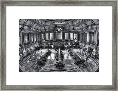 Hoboken Terminal Main Waiting Room II Framed Print by Clarence Holmes