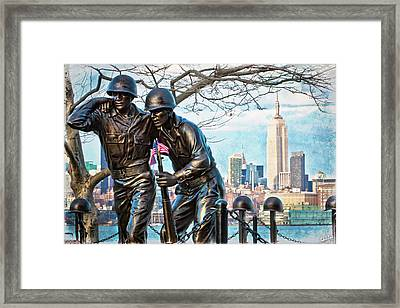 Hoboken War Memorial Framed Print
