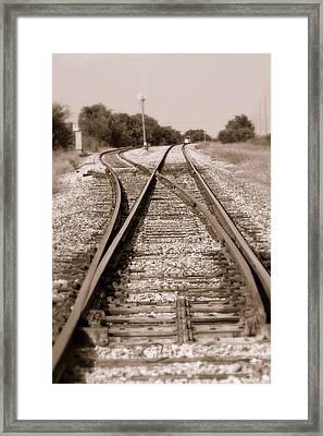 Hobo's Road Framed Print