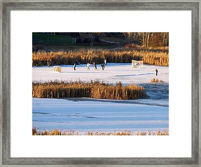 Hockey Game Framed Print by Will Borden