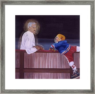 Hockey God Framed Print by Ken Yackel