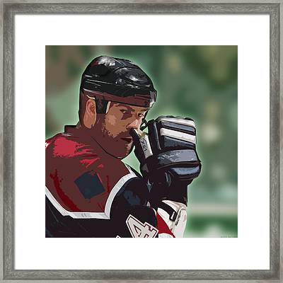 Hockey Illustration Framed Print by Lucas Armstrong