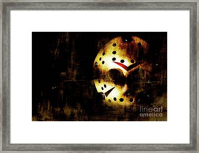 Hockey Mask Horror Framed Print