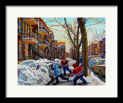 Montreal Winter Scenes Framed Prints