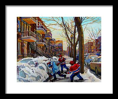 Saint Lawrence River Framed Prints