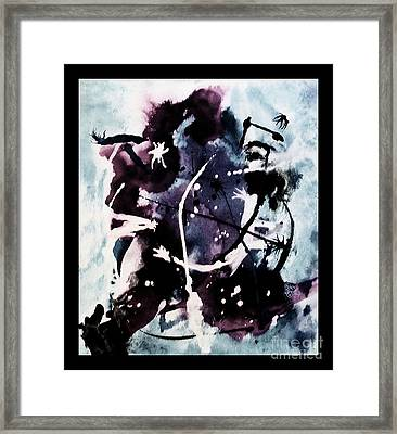 Hockey Player  Framed Print by Marsha Heiken