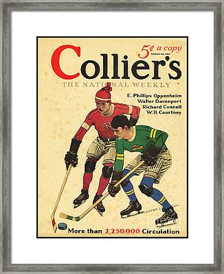 Hockey Players Framed Print by MotionAge Designs