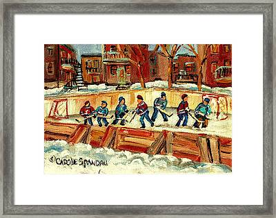 Hockey Rinks In Montreal Framed Print