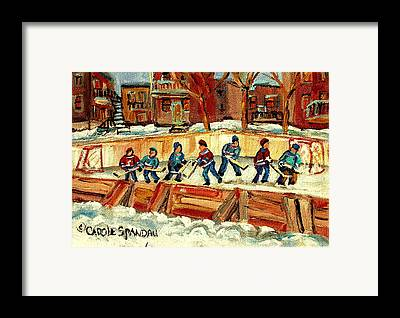 Hockey Sweaters Framed Prints