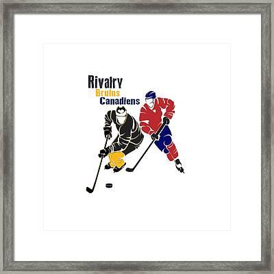 Hockey Rivalry Bruins Canadiens Shirt Framed Print by Joe Hamilton
